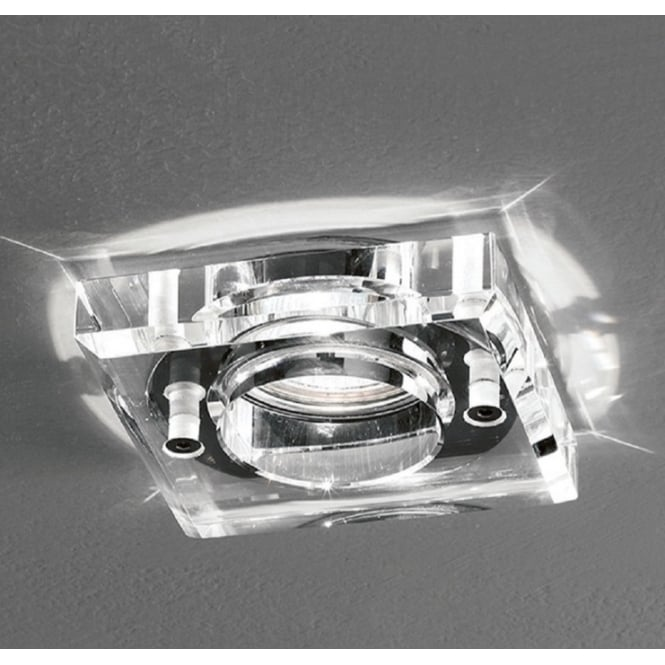 Bathroom Ceiling Lights Crystal Square : Franklite lighting bathroom square crystal glass downlight