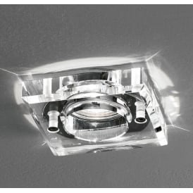 Bathroom Square Crystal Glass Downlight Spotlight in Chrome Finish RF309