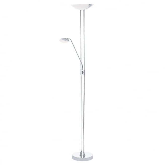 Eglo Lighting Baya LED Mother And Child Floor Lamp In Chrome Finish 93875