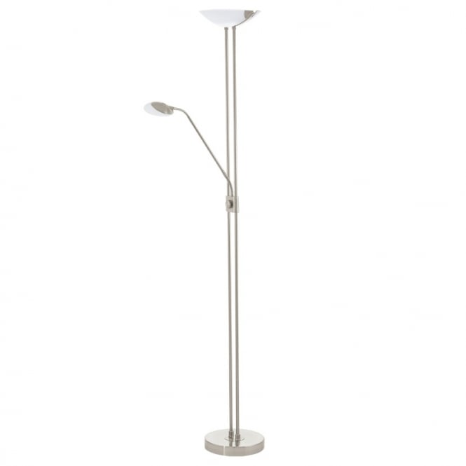 Eglo Lighting Baya LED Mother And Child Floor Lamp In Satin Nickel Finish 93874