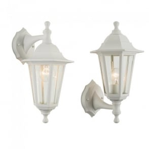 Bayswater Exterior Wall Light In White Finish IP44 60965