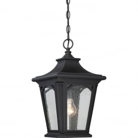 Bedford Outdoor Small Chain Lantern In Mystic Black Finish IP44 QZ/BEDFORD8/S