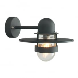 Bergen Outdoor Wall Light In Black Finish With Clear Glass BERGEN BLACK C