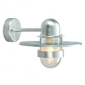 Bergen Outdoor Wall Light In Galvanised Finish With Clear Glass BERGEN GAL C