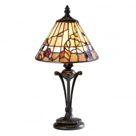 Bernwood Tiffany Small Table Lamp In Earthy Warm Colours 63950