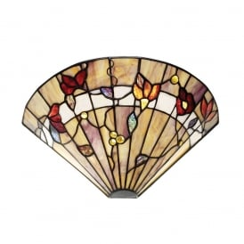 Bernwood Tiffany Wall Light In Earthy Warm Colours 63952
