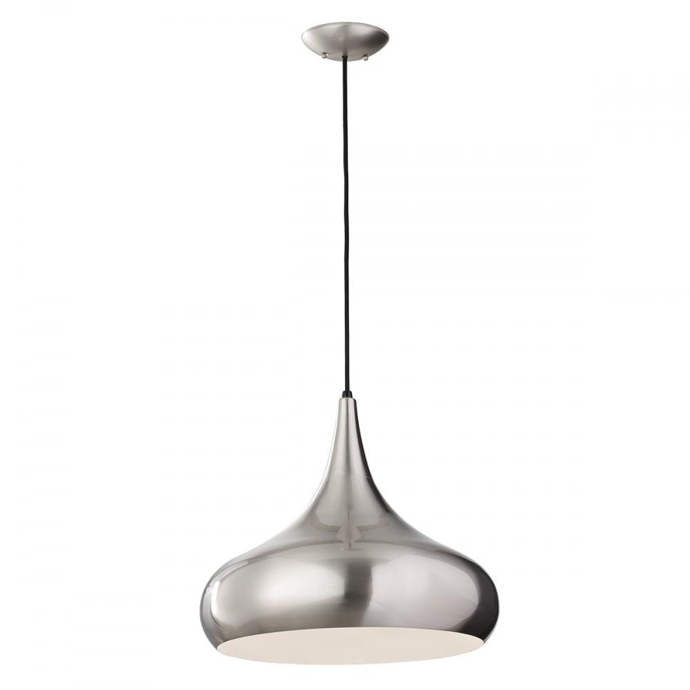 Brushed Steel Pendant Light