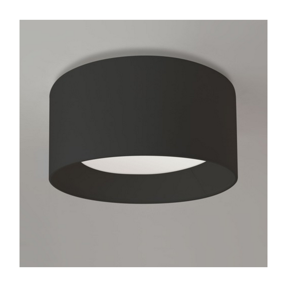 Astro Lighting Bevel Ceiling Light Plate with Round Black Shade 7057 ...