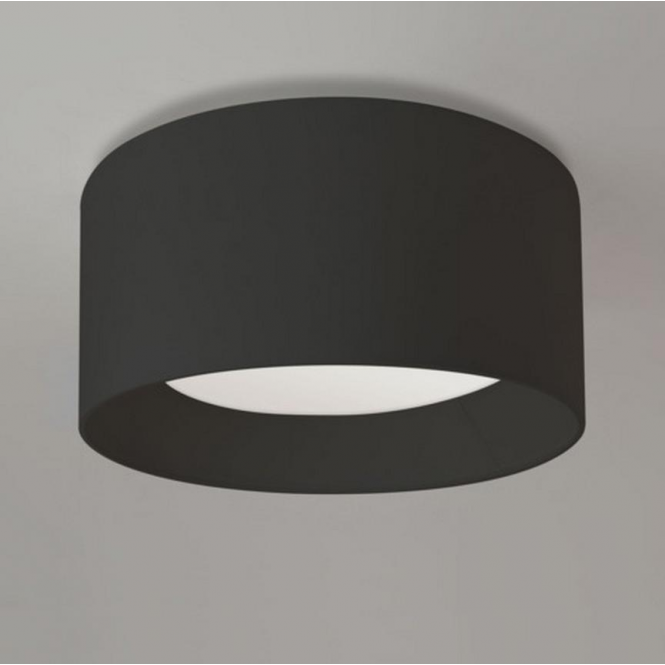 Astro Lighting Bevel Ceiling Light Plate with Round Black Shade 7057 + 4100