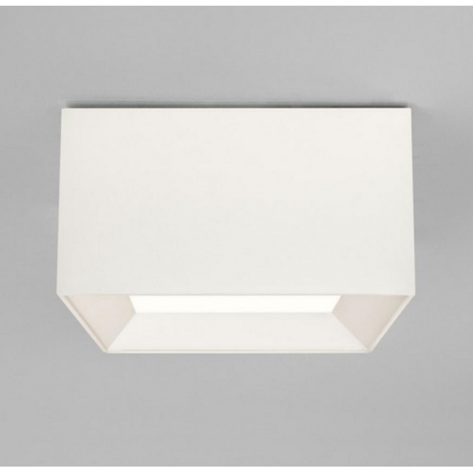 Astro Lighting Bevel Ceiling Light Plate with Square White Shade 7057 + 4097