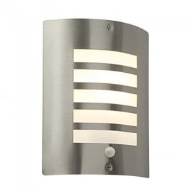 Bianco PIR Exterior Wall Light in Brushed Stainless Steel IP44 ST031FPIR