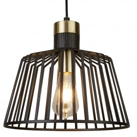 Bird Cage Large Ceiling Pendant Light In Matt Black Finish 9411BK