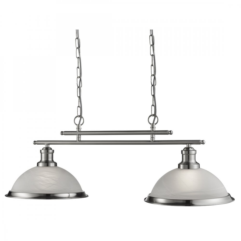 Searchlight Bistro Retro 2 Light Ceiling Bar Pendant Light