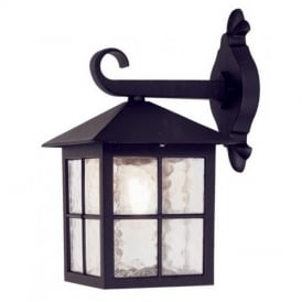BL18 exterior Winchester black wall lantern, IP43