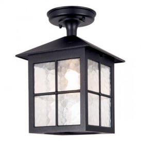 BL18A Winchester black flush porch exterior lantern, IP23