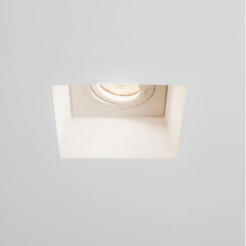 Blanco Square Adjustable Downlight in Plaster Finish 7345