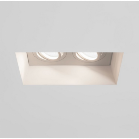 Blanco Twin Adjustable Downlight in Plaster Finish 7344