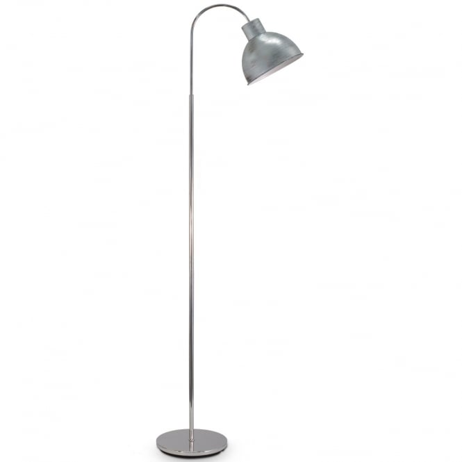 Eglo Lighting Boleigh Vintage Floor Lamp In Antique Silver Finish 49334