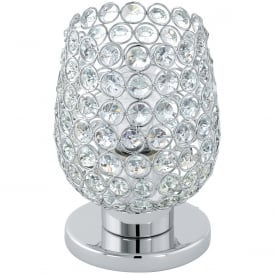 Bonares Table Lamp In Chrome Finish With Crystal Glass 94899