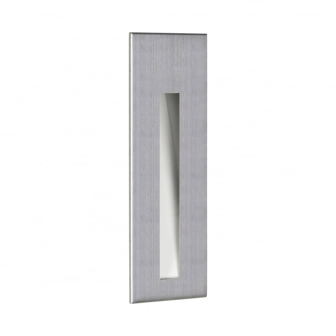Astro Lighting Borgo Sleek LED Rectangle Recessed Wall Light In Brushed Stainless Steel Finish 7529