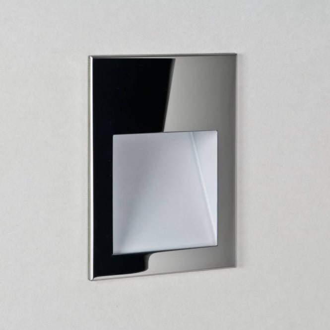 Astro Lighting Borgo Sleek LED Square Recessed Wall Light In Stainless Steel Finish 7531