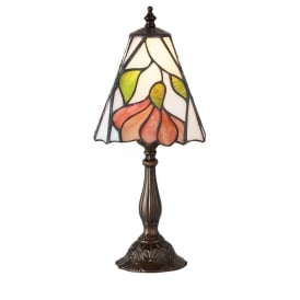 Botanica Tiffany Small Table Lamp With Floral Design 63963