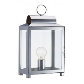 Box Polished Chrome Lantern Traditional Design Table Lamp BOX4250