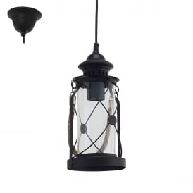 Bradford Vintage Ceiling Lantern In Black Finish 49213