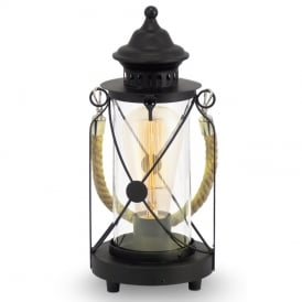 Bradford Vintage Table Lantern In Black Finish 49283