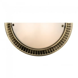 Brahm Classic Wall Light in Antique Brass Finish 61236