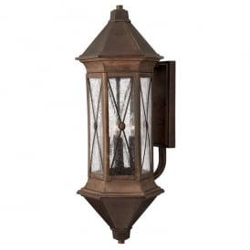 Brighton Outdoor Extra Large Wall Lantern In Sienna Finish IP44 HK/BRIGHTON1/XL