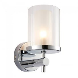 Britton Bathroom Wall Light in Chrome Finish 51885