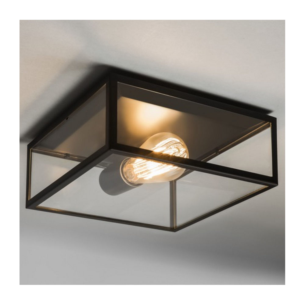 Bronte Vintage Outdoor Ceiling Light In Black Finish 7388