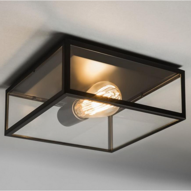 Astro Lighting Bronte Vintage Outdoor Ceiling Light in Black Finish 7388
