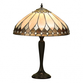 Brooklyn Tiffany Medium Table Lamp With Rich Cream Art Glass 63982