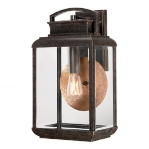 Byron Outdoor Vintage Large Wall Lantern In Imperial Bronze Finish QZ BYRON L