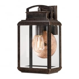 Byron Outdoor Vintage Medium Wall Lantern In Imperial Bronze Finish QZ/BYRON/M