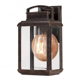 Byron Outdoor Vintage Small Wall Lantern In Imperial Bronze Finish QZ/BYRON/S