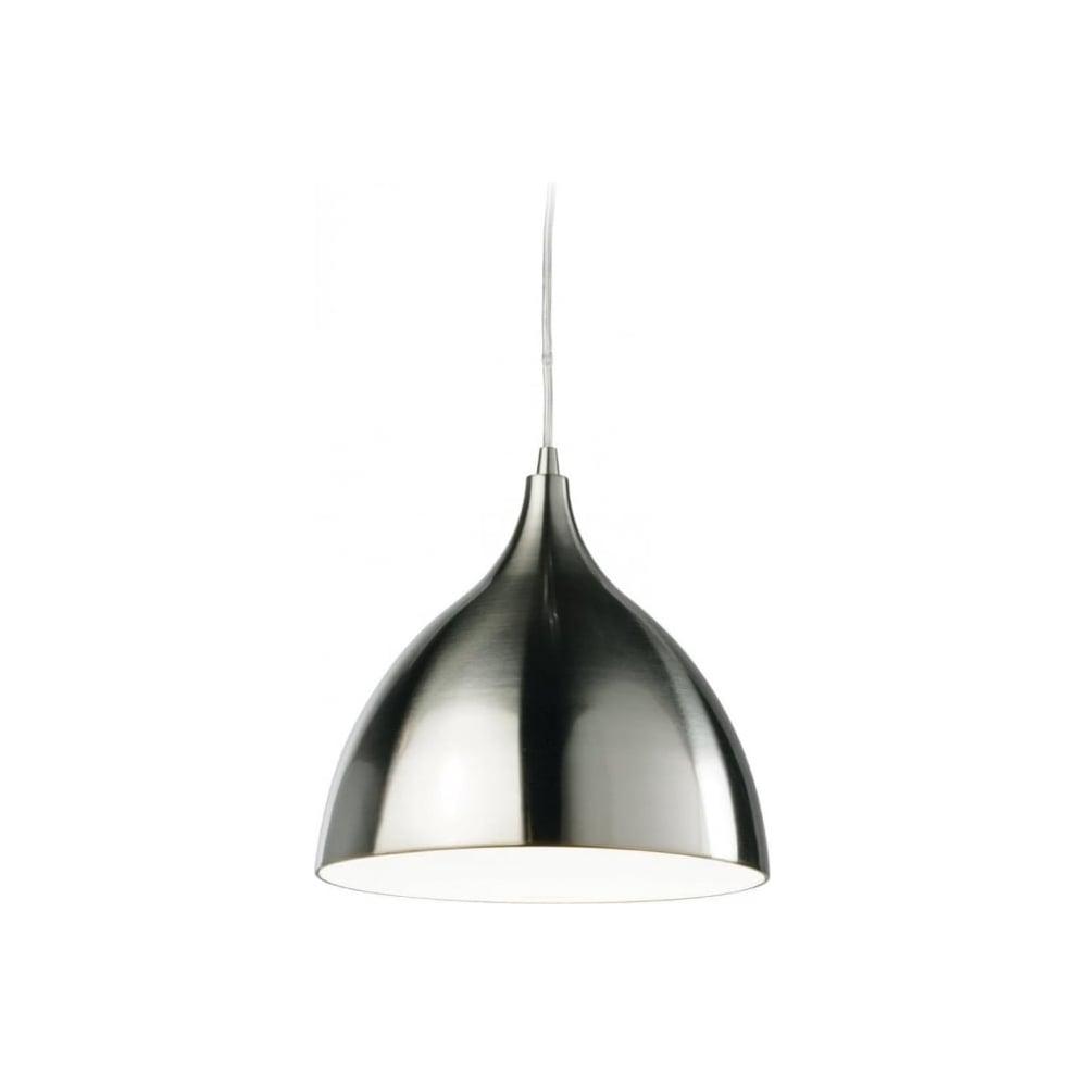 Firstlight Cafe 3337 Modern Brushed Steel Ceiling Pendant