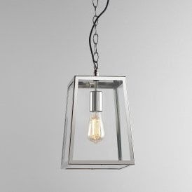 Calvi 305 Outdoor Ceiling Pendant Light In Polished Nickel Finish 8315