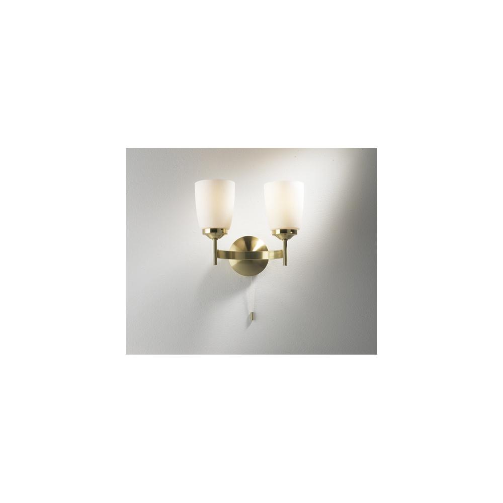 Satin Brass Wall Lights : CAP0941 Capitol Satin Brass Wall Light - Lighting from The Home Lighting Centre UK