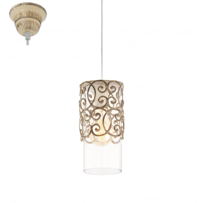 Eglo Lighting Cardigan Decorative Ceiling Pendant Light In Patina Brown Finish 49201