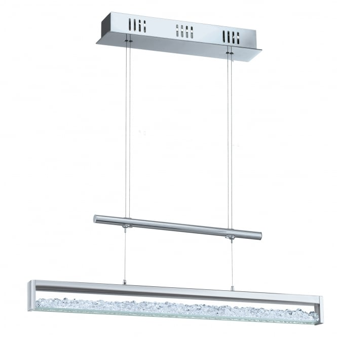 Eglo Lighting Cardito Stunning Adjustable LED Ceiling Bar Pendant With Crystal Glass Detail 90928