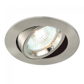 Cast Adjustable Recessed Downlight in Satin Nickel Finish 52333