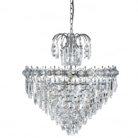 Catherine 7 Light Crystal Chandelier In Chrome Finish 2597-7CC