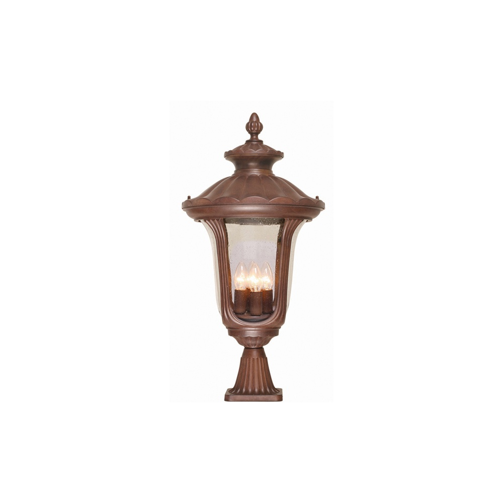 Elstead CC3 L Chicago Large Pedestal Exterior Lantern IP44 Lighting From Th