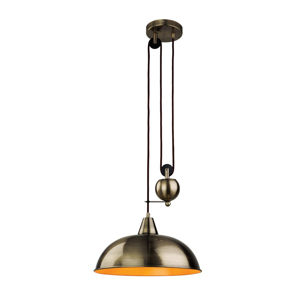 Industrial Rise And Fall Pendant Light: Firstlight Century Modern Rise And Fall Ceiling Light In