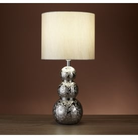 Ceramic Table Lamp In Chrome Finish With Silver Shade 4540CC