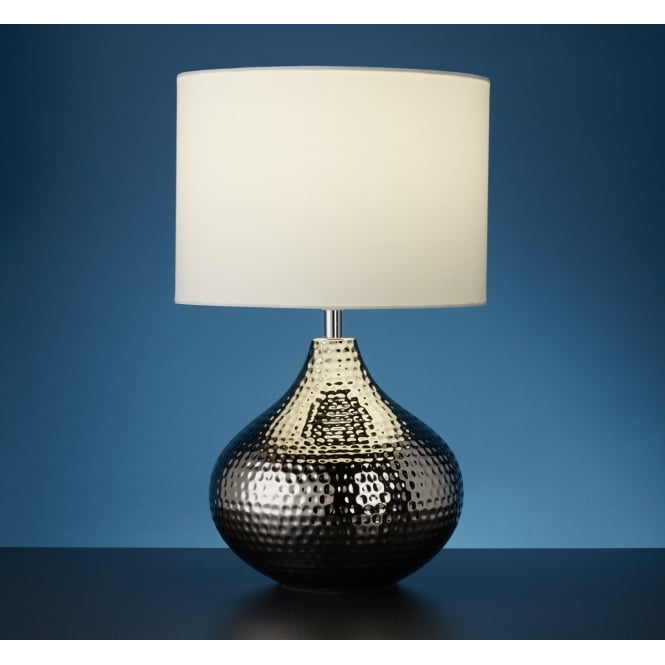 01249462220 9000039284 SN146RB 821854136 Searchlight Ceramic Table Lamp In Chrome