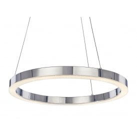Cerchio Modern LED Single Ceiling Pendant In Chrome Finish MD15030005-1A